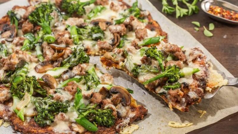 Veggie Loaded Broccoli Pizza Recipe - TheFoodXP