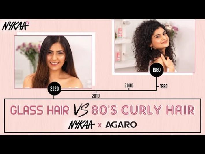 Trendy And Easy Hairstyles To Try At Home | Glass Hair Vs 80's Curly Hair | Nykaa x Agaro