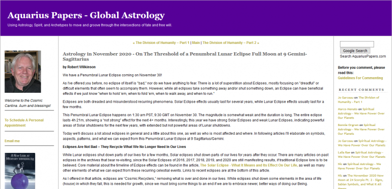 Astrology in November 2020 On The Threshold of a Penumbral Lunar Eclipse Full Moon at 9 Gemini-Sagittarius