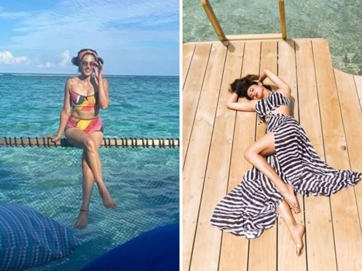 Bookmark these bold looks of Bollywood divas from the Maldives for your next vacay