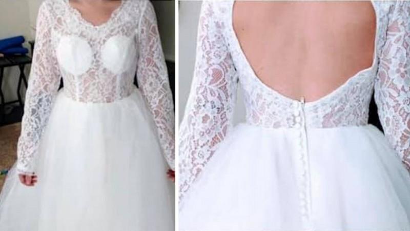 'Hideous' wedding dress fail sparks online shopping regret