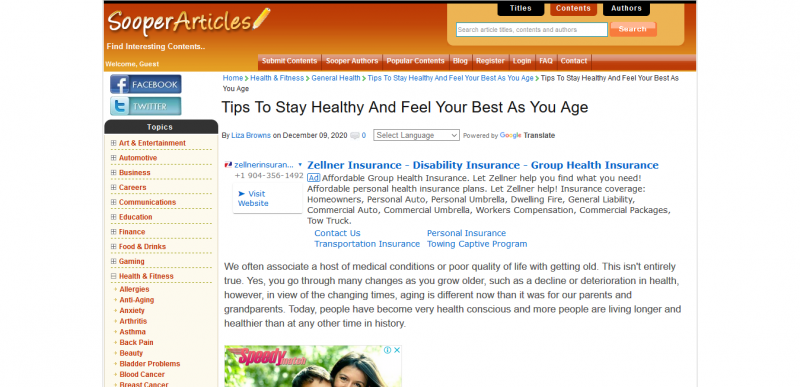 Tips To Stay Healthy And Feel Your Best As You Age