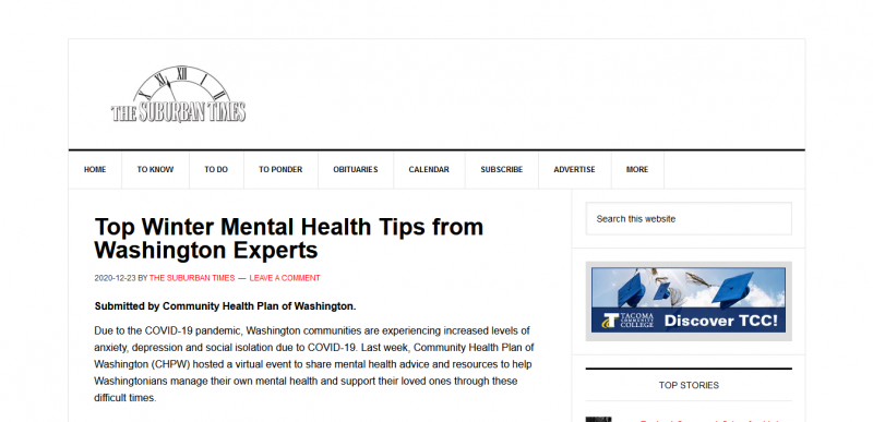 Top Winter Mental Health Tips from Washington Experts