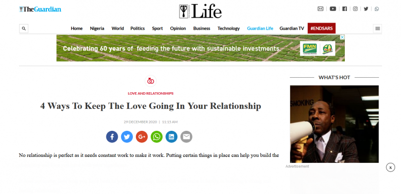 Four Ways To Keep The Love Going In Your Relationship
