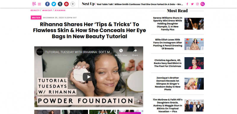 Rihanna Shares Her 'Tips & Tricks' To Flawless Skin & How She Conceals Her Eye Bags In New Beauty Tutorial