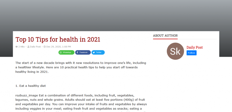 Top 10 Tips for health in 2021