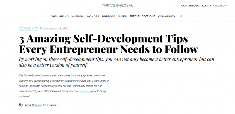 3 Amazing Self-Development Tips Every Entrepreneur Needs to Follow