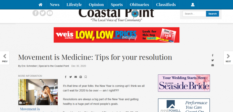 Movement is Medicine Tips for your resolution
