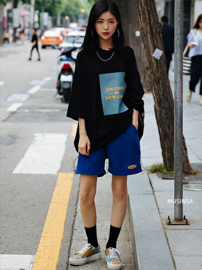 Korean Girl Oversize Dress Fashion Tips