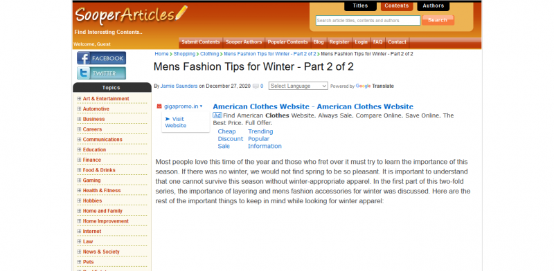 Mens Fashion Tips for Winter Part 2 of 2