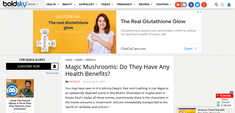 Magic Mushrooms: Do They Have Any Health Benefits