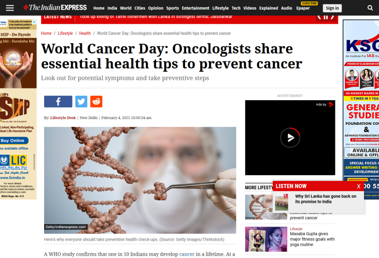 World Cancer Day: Oncologists share essential health tips to prevent cancer
