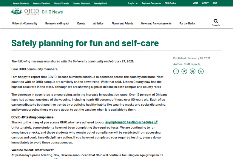 Safely planning for fun and self-care
