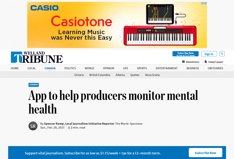 App to help producers monitor mental health