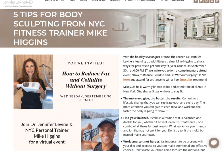 5 Tips For Body Sculpting from NYC Fitness Trainer Mike Higgins