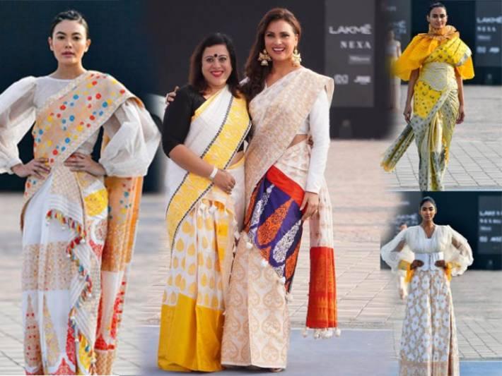 Bollywood beauty Lara Dutta scorched the Lakme Fashion Week ramp as Showstopper for Designer Sanjukta Dutta