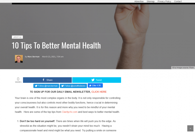 10 Tips To Better Mental Health