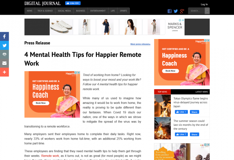 4 Mental Health Tips for Happier Remote Work