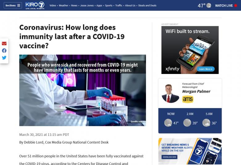 Coronavirus: How long does immunity last after a COVID-19 vaccine?