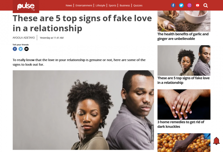 These are 5 top signs of fake love in a relationship