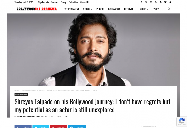 Shreyas Talpade on his Bollywood journey: I don't have regrets but my potential as an actor is still unexplored