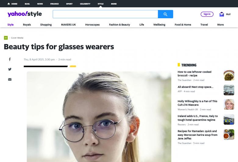 Beauty tips for glasses wearers