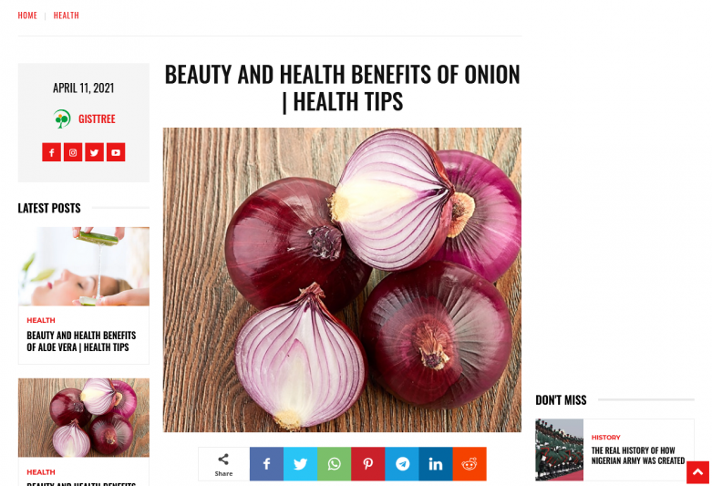 Beauty And Health Benefits Of Onion