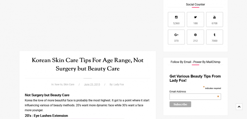 Korean Skin Care Tips For Age Range, Not Surgery but Beauty Care
