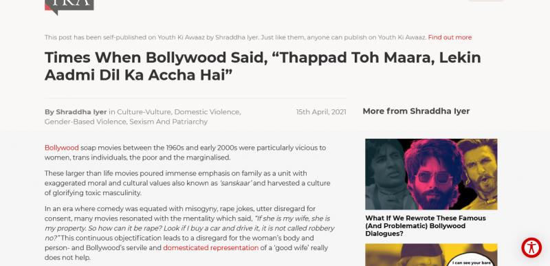 """When Bollywood Said, """"Thappad Maara, Lekin Aadmi Dil Ka Accha Hai"""""""