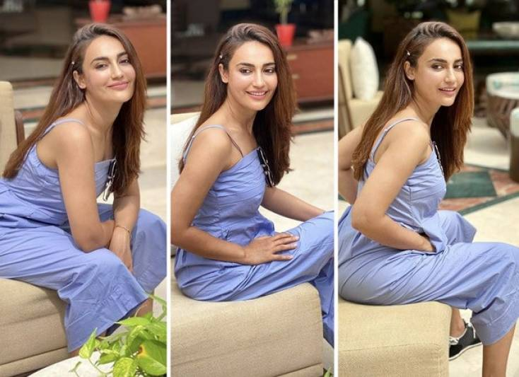 Qubool Hai actress Surbhi Jyoti rocks the casual look in a pleated cotton jumpsuit