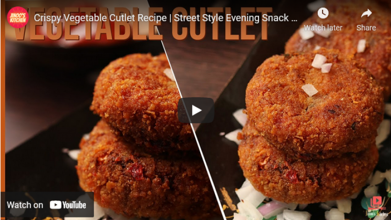 crispy Vegetable cutlet recipe
