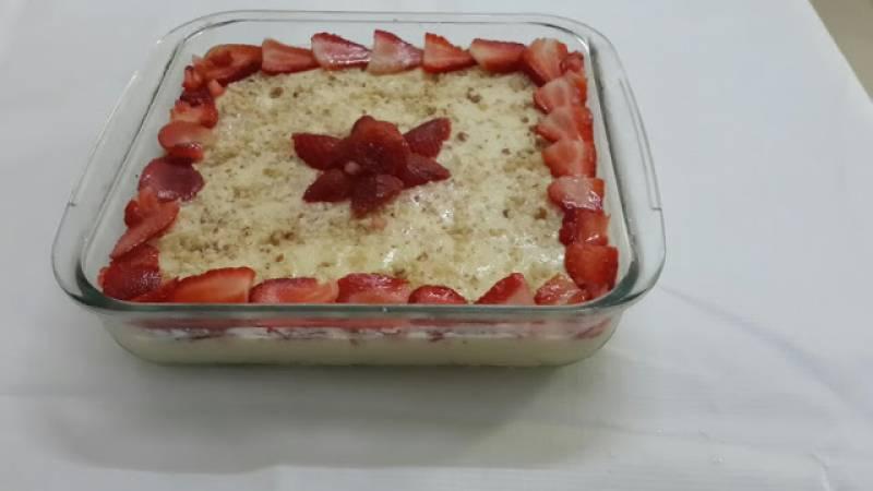 Agar Agar dessert with Strawberries Recipe