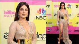 Priyanka Chopra Jonas' thigh-high slit and plunging neckline stirs conversation in fashion world