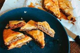 Maple Bacon Baklava dessert recipe