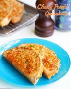 Cheesy potato quesadillas for breakfast? Yes please!