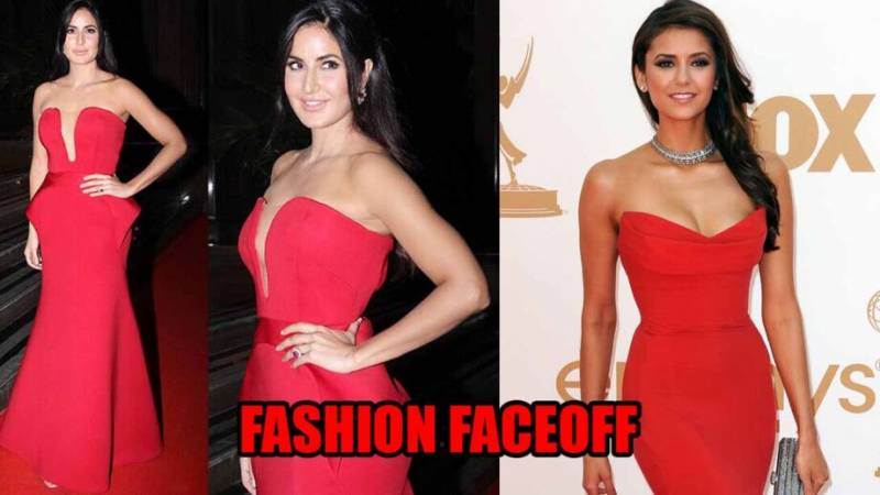 Fashion Faceoff: Katrina Kaif Vs Nina Dobrev: Which Diva Raised Hotness Bars In A Red Gown?