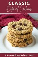 Classic Oatmeal Raisin Cookie Recipe + Tips on Making Low Point Desserts