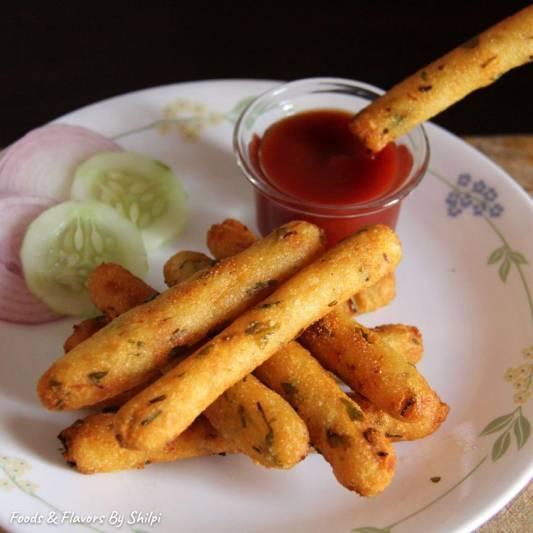 Potato fingers Recipe | Crispy Potato Snack Recipe | Aloo Suji Nashta | Indian Snacks Recipe