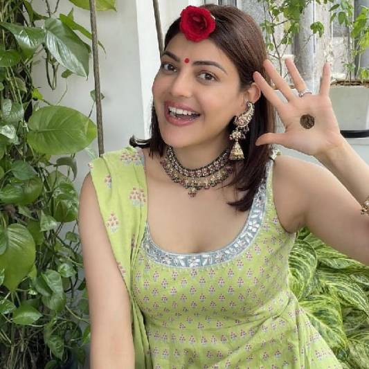 Kajal Aggarwal celebrates her first Teej post wedding with Gautam Kitchlu fans speculate if the pictures are from the Uma actress baby shower