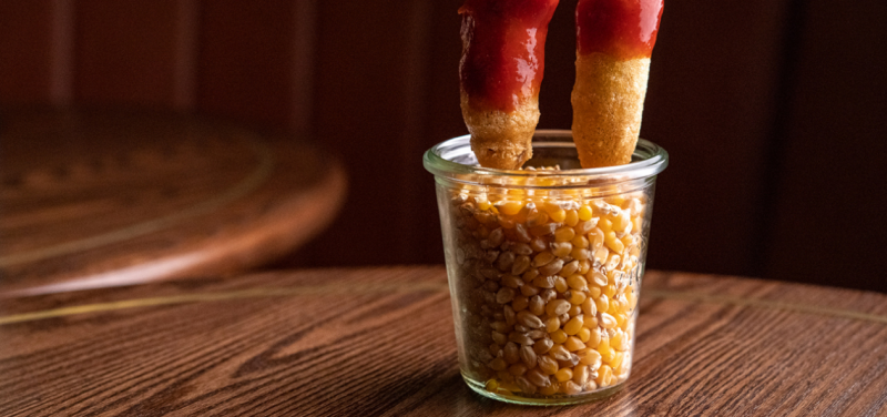 Bring the bar snacks to your abode with Little Culprit's bierstick corn dog recipe