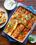 Weeknight Tex-Mex Chicken Enchiladas
